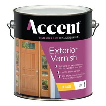 Accent Exterior Varnish Oil Based Gloss Clear 4L