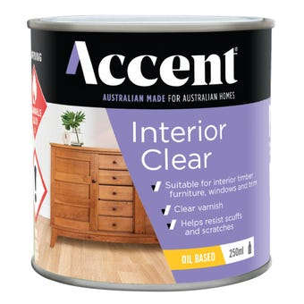 Accent Interior Clear Oil Base Gloss 250ml