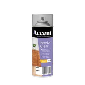 Accent Interior Clear Spray Oil Based Satin 300g