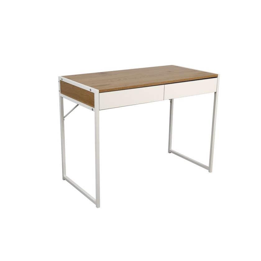 2 Drawer Desk White & Oak