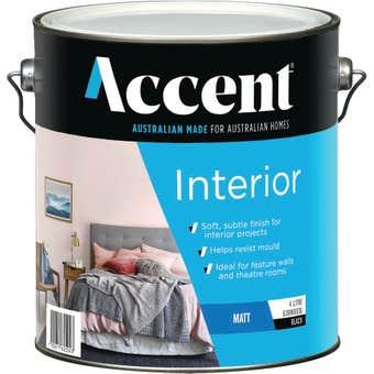 Accent Interior Matt Black 4L