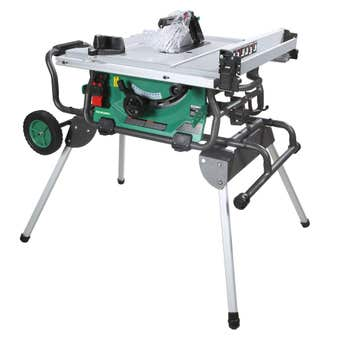 HiKOKI 1500W Saw Table with folding Stand & Castors 254mm
