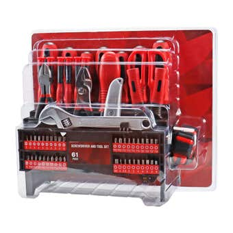 Screwdriver & Tool Set - 61 Piece