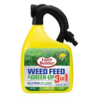 Scotts Lawn Builder™ 3in1 Weed, Feed & Green Up Liquid Lawn Fertiliser 2L
