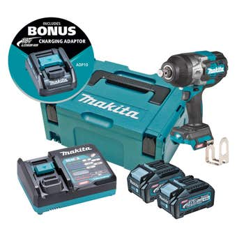 "Makita 40V Max Brushless 3/4"" Impact Wrench Kit TW001GM203"