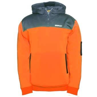 CAT Hi-Vis Hooded Sweatshirt Orange