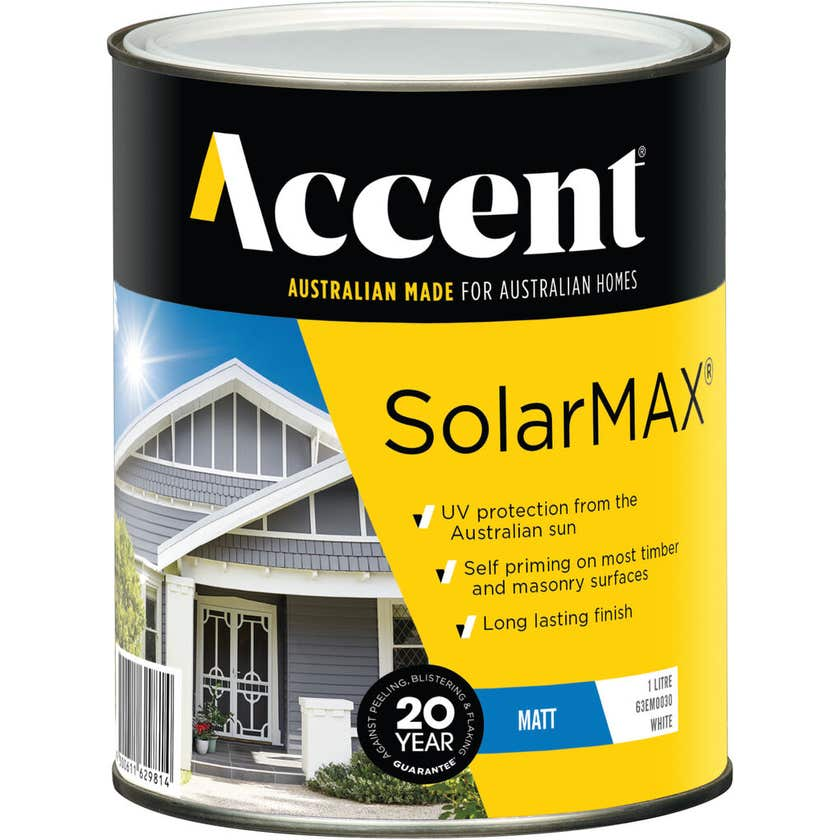 Accent SolarMAX Exterior Matt White 1L