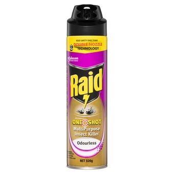 Raid One Shot Multipurpose Insect Killer Odourless 320g