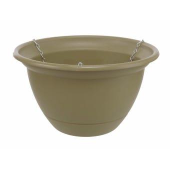 Tuscan Hanging Basket Olive 300mm