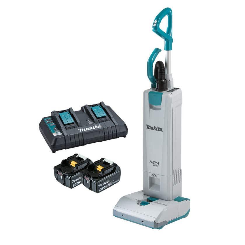 Makita 18V x 2 Brushless 2 x 5.0Ah Upright Vacuum Kit DVC560PT2