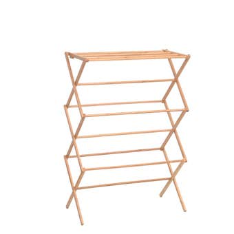 Uperia Bamboo Folding Clothes Airer