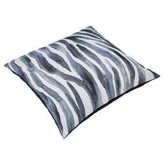 Outdoor Cushion Zebra Black 450mm