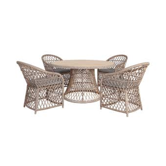 Congo 4 Seater Timber Wicker Dining Set