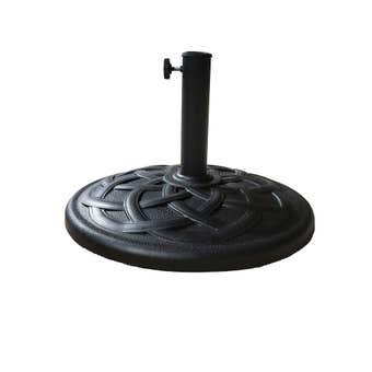 Umbrella Stand Round Polyresin Black 18kg