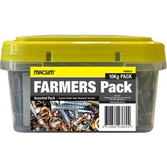 Macsim Farmers Pack Mixed Fasteners 10kg
