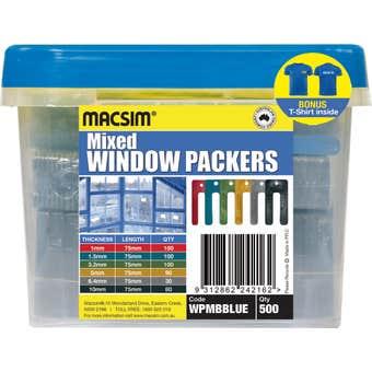 Macsim Window Packers Mixed 75mm - Box of 500 + Bonus T-Shirt