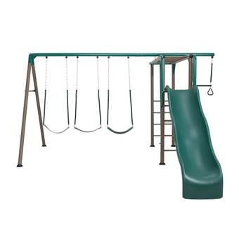 Swing Slide Climb Monkey Bar Swing Set
