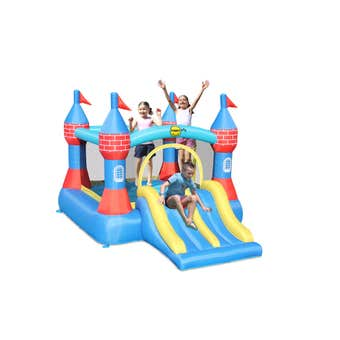 Happy Hop Inflatable Castle Bouncer with Double Slide