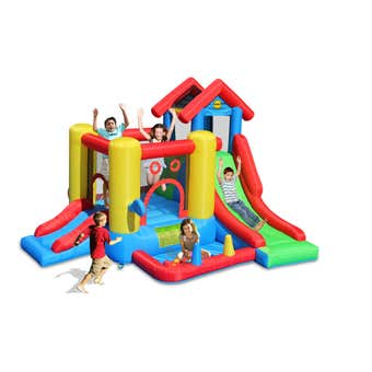 Happy Hop 7-In-1 Inflatable Bounce Playhouse