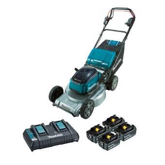 """Makita 36V (18Vx2) 6.0Ah Brushless Self-Propelled Lawn Mower 534mm (21"""") Kit DLM537PG4X"""