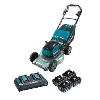 """Makita 36V (18Vx2) 5.0Ah Brushless Self-Propelled Lawn Mower 534mm (21"""") Kit DLM537PT4X"""