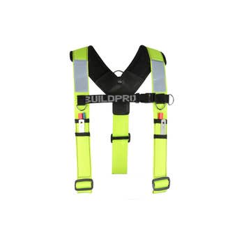 Buildpro Backpro Adjustable Padded Shoulder Brace Fluro Yellow