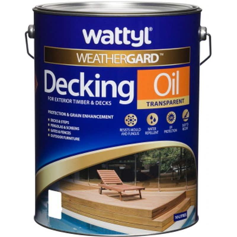 Wattyl Weathergard Decking Oil 10L Merbau