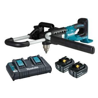 Makita 18V x 2 Brushless 2 x 5.0Ah Earth Auger Kit DDG460T2X4