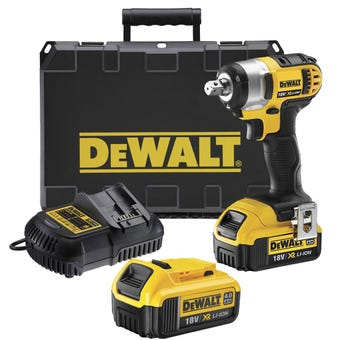 DeWALT 18V 4.0Ah  XR Li-Ion Impact Wrench Kit DCF800M2-XE
