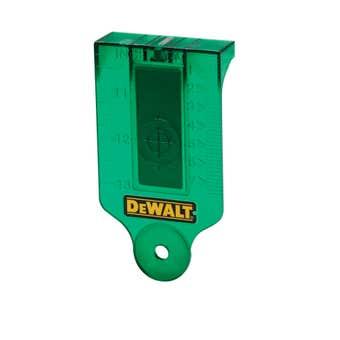 DeWALT Laser Target Card with Magnetic Base Green