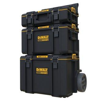 DeWALT TOUGHSYSTEM 2.0 3-in-1 Stackable Storage Tool Box System