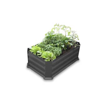Patio Garden Bed with Base Charcoal 800 x 500 x 300mm