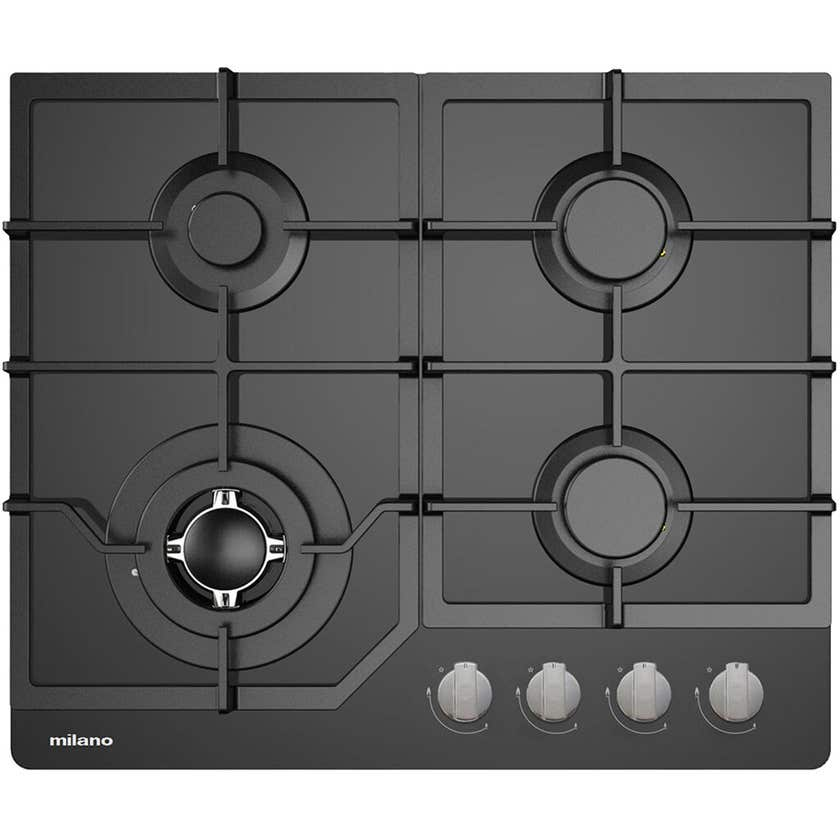 Milano Gas Cooktop Glass with Wok Burner 600mm
