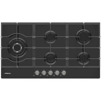 Milano Gas Cooktop Glass with Wok Burner 900mm
