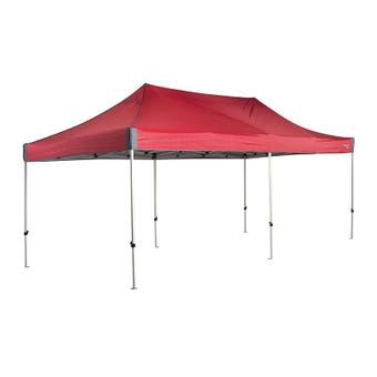 OZtrail Deluxe Gazebo Red 6.0m