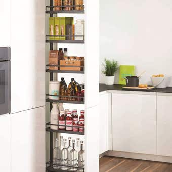 Kessebohmer Dispensa Pull Out Pantry Anthracite Arena Style