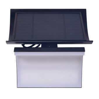 Built Solar Sensor Light Curved Black