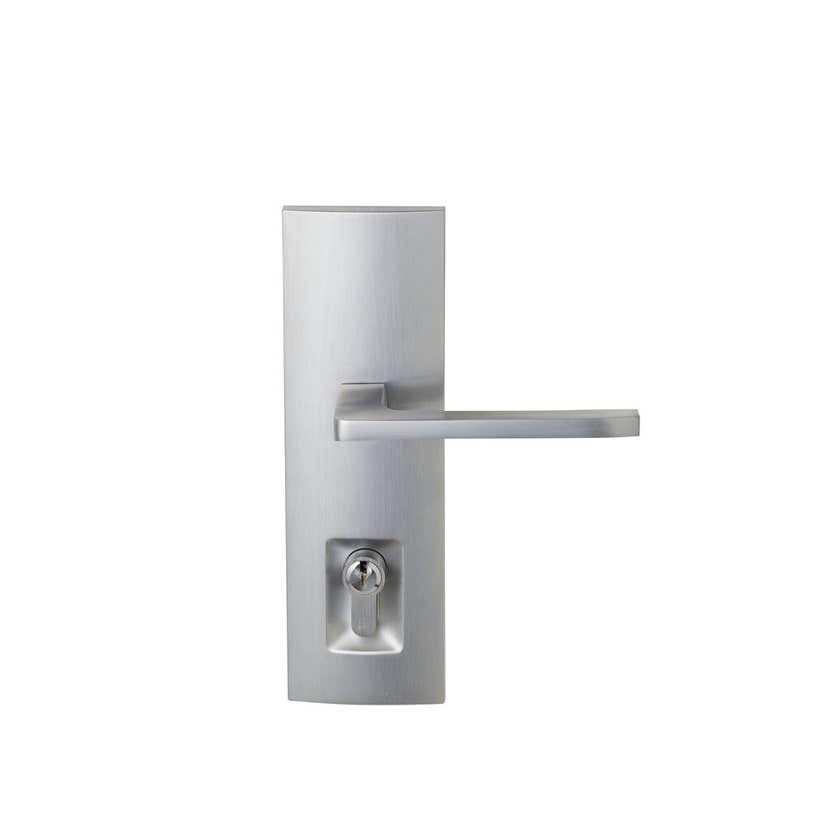 Delf Elba Lever Double Cylinder Linear Secure Satin Chrome