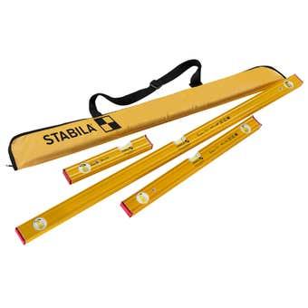 Stabila Type 80 AS PRO Spirit Level Set with Bag