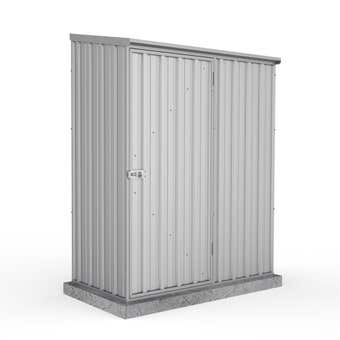 Absco Eco-Nomy Space Saver Shed with Anchors Zincalume 1.52 x 0.78 x 1.95m