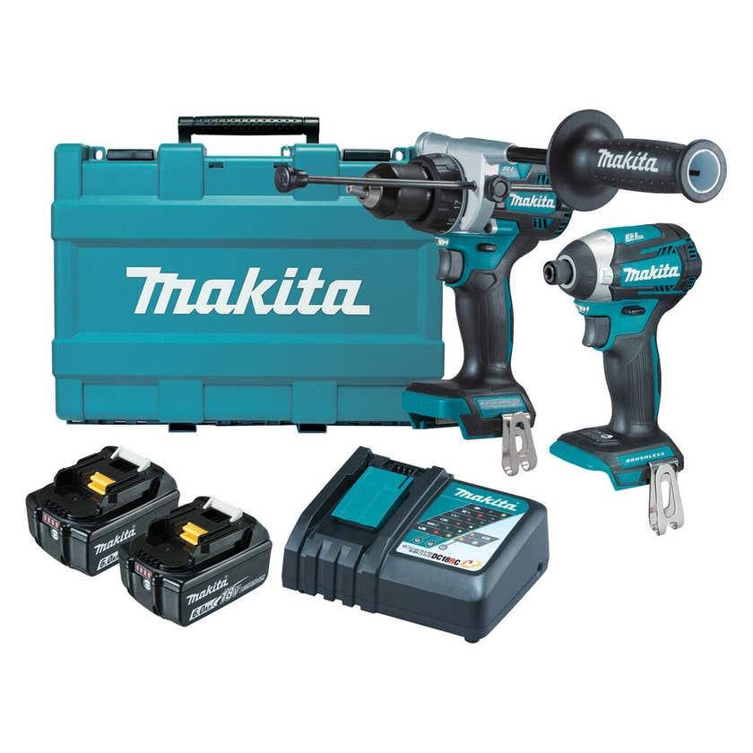 Makita 18V 6.0Ah Brushless Combo Kit - 2 Piece DLX2412G