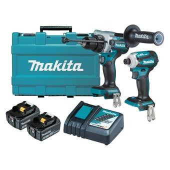 Makita 18V 5.0Ah Brushless Combo Kit - 2 Piece DLX2411T