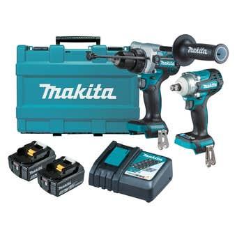 Makita 18V 5.0Ah Brushless Combo Kit - 2 Piece DLX2419T