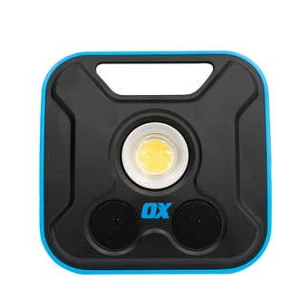 Ox Pro Rechargeable Led Work Light with Wireless Speakers