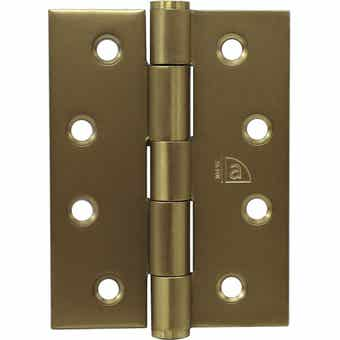 Superior Brass Butt Hinge Fixed Pin Satin Brass