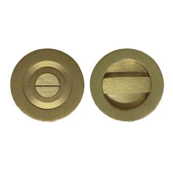 Superior Brass Flush Turn Snib Satin Brass
