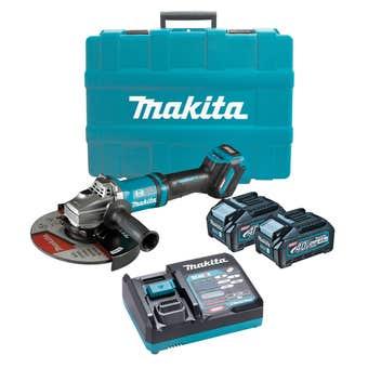 "Makita 40V Max Brushless Angle Grinder Kit 230mm (9"") GA038GM201"