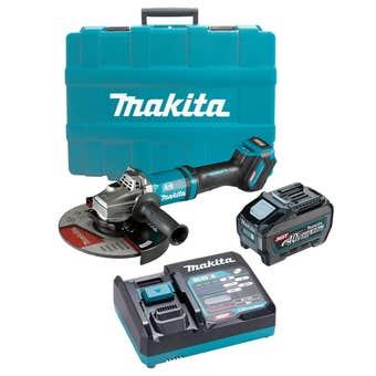 "Makita 40V 5.0Ah Max Brushless Angle Grinder Kit 230mm GA038GT101(9"")"