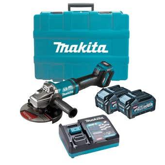 "Makita 40V Max Brushless Angle Grinder Kit 180mm (7"") GA037GM201"