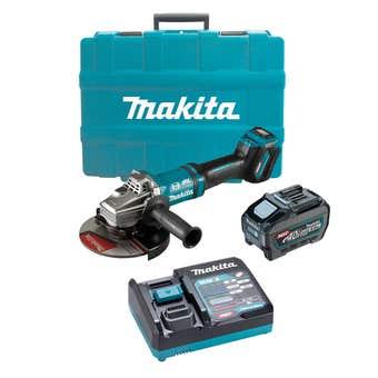 "Makita 40V Max Brushless Angle Grinder Kit 180mm (7"")"